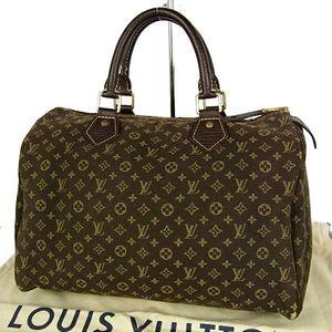 Auth Louis Vuitton Mini Lin Speedy 30 Hand Bag
